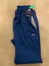 Champion Men's Powerblend Fleece Joggers Light Navy Blue Soild Color