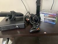Xbox 360 console kinect bundle, 9 games, cables and controller