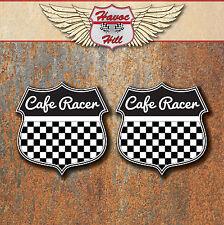 CAFE RACER Laminated Stickers Black classic motorbike Race Triumph Honda Suzuki