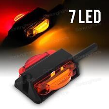 """LED Amber and Red Fender Marker Light Trailer RV Camper Driver LH Side 4"""" 7Diode"""