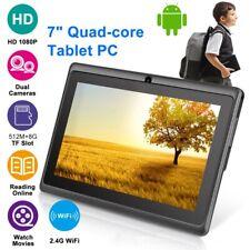 Enfant 7 Pouces Android 8 GB Tablette Quad Core Dual Caméra Éducation Noir
