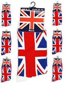 Mens Ladies Unisex Union Jack Socks British Flag Everyday Socks Union Jack