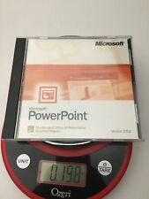 Microsoft Office 2002 PowerPoint Power Point Disc With Serial