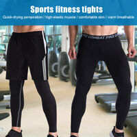 Men Fitness Pants Tight Quick Dry Sports Running Gym Workout Leggings Pants