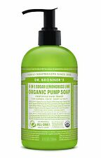 DR Bronner's Organic 4-in - 1 SUGAR Lime & Lemongrass Sapone Pompa 356 ML-Commercio Equo e Solidale