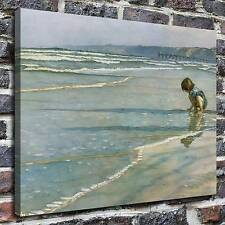 Children at the beach Paintings HD Print on Canvas Home Decor Wall Art Pictures