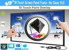 """LCD/LED 10 Touch IR Overlay Touch Screen Frame Panel Interactive 49"""" - No Glass"""