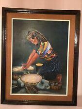 Series de pinturas en oleo indigenas de Guatemala con sus trajes tipicos