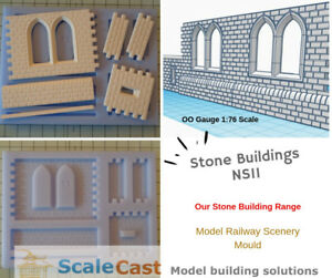 Model Railway Scenery - NS11 Double windows and Custom Tiles  - OO Gauge