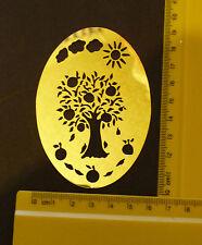 Brass/stencil/Oval/Tree/Orange/Lemon/Apple/Spring/Summer/Emboss