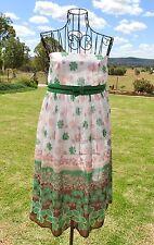 Strapless Daisy Sun Dress, Floral Martini, Size 14, Hippy Chic, Retro