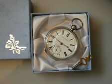 Beautiful Antique Hallmarked Silver WALTHAM FARRINGDON H Pocket Watch Dated 1886