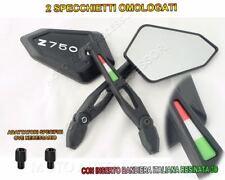 Specchietti Omologati One + adattatori per Z750 KAWASAKI Logo Bianco