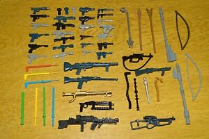 VINTAGE STAR WARS PLASTIC NON-FLOATING REPLICA WEAPONS - COMPLETE YOUR FIGURES