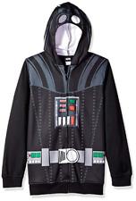 Star Wars Darth Vader Costume Hoodie Boys Size XL w/ Masked Hood Halloween