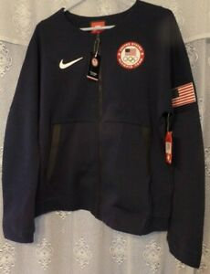 New Blue Women's Nike Tech Fleece Team USA Olympic L Jacket 806996  large