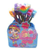 Lisa Frank Easter Pencils with Jumbo Eraser Toppers New Pack of 16 with Stand