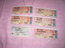 /// 6 TICKETS RC LENS CHAMPIONNAT FOOTBALL 2002/2003 + 2001/2002 STADE BOLLAERT