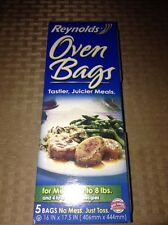 """NEW Five 16"""" x 17.5"""" Oven Bags by Reynolds - MADE IN THE USA - BPA FREE"""