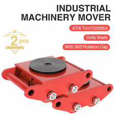 2Pcs 6T Machinery Mover Industrial Dolly Skate Straight Machine Rotation Cap