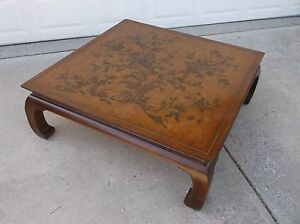 """Drexel 'ET CETERA' 46"""" SQ Asian Style Coffee Table"""