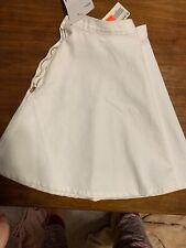 American Apparel White Denim Wash Circle Skater Shirt Sz Large