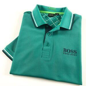 Hugo Boss Polo Shirt Men's Paddy Pro Green Moisture Manager Regular Fit 50249000