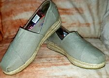 BOBS from Skechers Women's Size 9.5 Highlights Espadrille Wedge Slip On Taupe