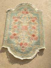 "Antique Chinese Art Deco Feti Nickuls Oriental Rug Carpet European shape 22x37"""