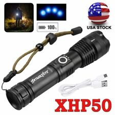 XHP P50 MOST POWERFUL Focus FLASHLIGHT USB Zoom TORCH HUNTING LAMP Power / 26650