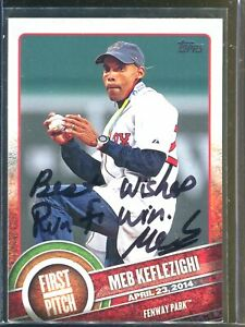 Meb Keflezighi Topps First Pitch Boston Marathon Signed Card Authentic Autograph