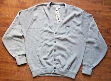 IZOD Golf Knit Button Up Cardigan Sweater Jumper Grey Sz L