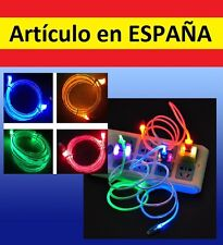 CABLE CARGADOR Luces LED adaptador USB micro smartphone movil samsung S3 S4 pc