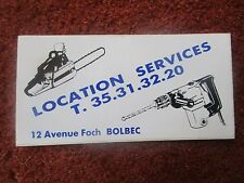 AUTOCOLLANT STICKER SEINE MARITIME BOLBEC AVENUE FOCH LOCATION SERVICES