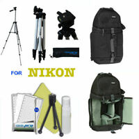 "57"" PRO TRIPOD + BACKPACK BAG +REMOTE FOR NIKON D5600 D3400 D3100 D3200 D3300"