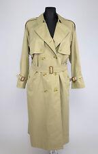 Burberry Women's Khaki Brown Trench Coat SIZE 14 EXLPLUS