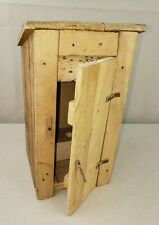 Handmade Art Toy Decor Outhouse Privy Potty Two Seater Wood Craft Building