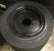 4 Tires With Wheels 34x12 20 12 165 Solid Smooth Skid Steer Loader Tire