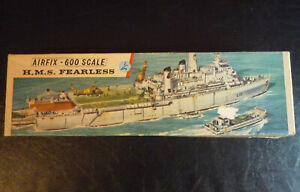 * * 1968 Airfix HMS Fearless 1:600 scale model ship kit - NEW * *