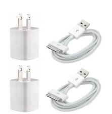 2-Set Home Wall AC Charger +30 pin Data Charging Cable for iPhone 3G 4 ipod Nano