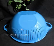 Tupperware NEW Thatsa Multifunctional Colander Strainer Bowl in Raindrop Blue
