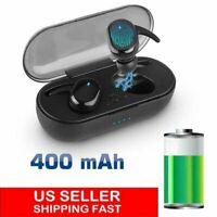 Waterproof Bluetooth 5.0 TWS True Wireless Touch Mini Earbuds Headphone Headset