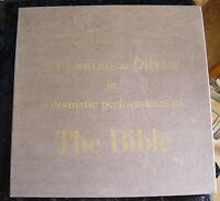 Sir Laurence Olivier: a dramatic performance of THE BIBLE (12 LP Box SET) 1974