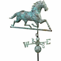 Good Directions Outdoor Horse Spin Roof-Mount Weathervane- Copper Patina Finish