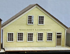 WHARF LUMBER COMPANY HO Scale Model Railroad Unpaintd Structure Laser Kit DF429H