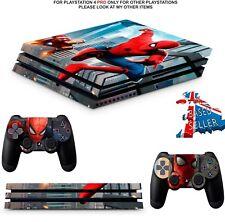 SPIDERMAN  PS4 PRO SKINS DECALS (PS4 PRO VERSION) WRAP TEXTURED VINYL STICKER