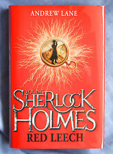 ANDREW LANE Young Sherlock Holmes RED LEECH - SIGNED & numbered 1st edition book