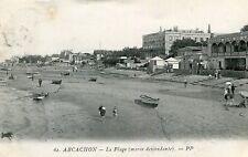 Carte ARCACHON La Plage Marée descendante