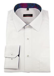 ETERNA Herren Langarm Business Hemd Modern Fit Kent weiß Patch 8502.00.X15P