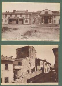 FIESOLE, Firenze. 2 foto Alinari all'albumina, circa 1890